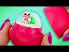 Mini SNOW GLOBE ❄ DIY EOS Lip Balm - YouTube