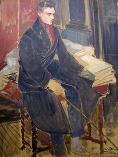 Portrait of Raymond Radiguet (1903-1923) by Jacques-Émile Blanche (1861-1942). A protege and lover of Jean Cocteau. A prodigy as a novelist who died aged 20.