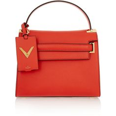 Valentino My Rockstud leather tote (£1,555) ❤ liked on Polyvore featuring bags, handbags, tote bags, pink, red leather purse, pink leather tote, pink tote bag, red leather tote bag and leather tote