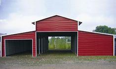 Metal Barn B 2 at Superior Buildings and Carports. Metal Garage Buildings, Metal Building Homes, Building A Shed, Steel Buildings, Building Ideas, Metal Homes, Modern Buildings, Building Plans, Building Design