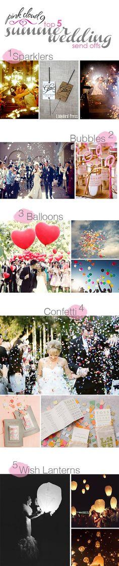 summer wedding send offs | PINK CLOUD 9