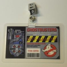 Ghostbusters ID Badge-Paranormal Investigators prop costume cosplay