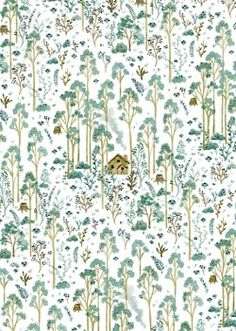 "Vikki Chu: Woods ""wood"" love for wallpaper! Art And Illustration, Pattern Illustration, Art Design, Textile Design, Textures Patterns, Print Patterns, Pattern Art, Pattern Design, Inspiration Art"