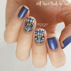 31 Day Nail Art Challenge 2.0: Day Three, Blueby Will Paint Nails for Food