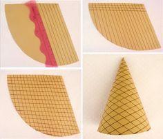 Icing Designs: New ice cream design and DIY ice cream party hat!