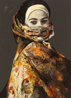 'Secret Behind the Veil' by Lita Cabellut