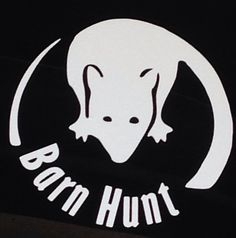 Barn Hunt rat decal by MACHmyday on Etsy