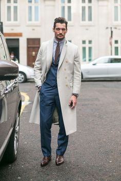 Fashion Week Street Style Special: David Gandy's Name-Embroidered Coat: The Daily Details: Blog : Details