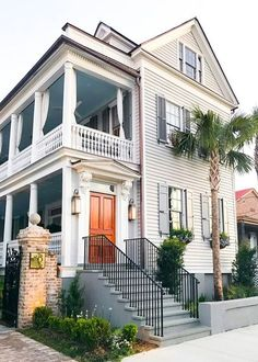 charming, classic Charleston home with porch and balcony