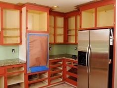 Renew old cabinets and add depth to your kitchen with a two-tone paint and finish treatment.