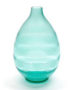 Sea-green glass Serica vase No.33 with crackle design A.D.Copier 1931 executed by Glasfabriek Leerdam / the Netherlands