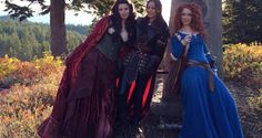 Once Upon a Time with Red (Meghan Ory), Mulan Jamie Chung and Merida (Amy Manson). Happy to see Red and Mulan back. Hope they stay around.