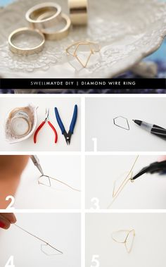 I am still in love with delicate rings, especially mixed with large ring bands, like these from ASOS . With so much leftover wire from my pa...