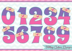 Doc McStuffins Inspired Boo Boo Numbers Clipart in JPG and PNG formats. Doc Mcstuffins Cookies, Doctor Mcstuffins, Doc Mcstuffins Birthday Party, Circus Birthday, 3rd Birthday, Happy Birthday, Double Birthday Parties, Doctor Party, Holidays And Events