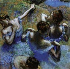 """""""Танцовщицы в голубом"""", Эдгар Дега, 1898 год."""