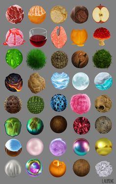 ArtStation - Materials Study, Lauren Covarrubias
