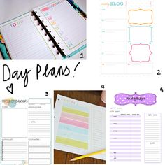 Staying organised whilst on the road is a big task - day planning is crucial, here are my Fave Free Printable Day Planner Inserts!