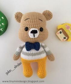 In this article we will share free amigurumi teddy bear crochet patterns. On our… In this article we will share free amigurumi teddy bear crochet patterns. On our site you can find everything you are looking for about amigurumi. Bunny Crochet, Crochet Teddy Bear Pattern, Crochet Doll Pattern, Crochet Patterns Amigurumi, Crochet Dolls, Free Crochet, Amigurumi Animals, Amigurumi Doll, Diy Teddy Bear