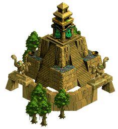 aztec temple by ~NickRLee