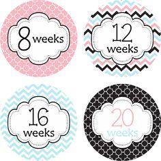 CUSTOM Pregnancy Stickers Pregnancy by LittleLillyBugDesign, $11.00
