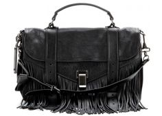 Proenza Schouler - PS1 Medium Fringe Lux Leather Shoulder Bag — BAGSESSED