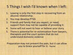 Good information to note about recovery from an abusive relationship!