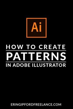 In this Adobe Illustrator Tutorial I will show you how to create a custom pattern swatch! It's super easy!
