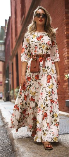 Maxi dresses for when your legs are out of office    Floral print maxi dress 1162aafbad7a