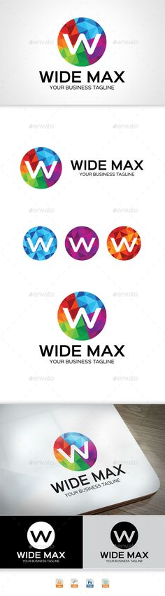 Wide Max - Logo Design Template Vector #logotype Download it here: http://graphicriver.net/item/wide-max/11304265?s_rank=1436?ref=nexion