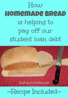 We have not bought bread since we decided to be serious about getting out of debt.  It's one of many changes we've made to lighten our debt burden.  Here's how it helps us, along with our favorite recipe!