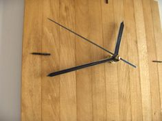 Wooden square wall hanging clock wood oak silent no ticking mechanism MADE TO ORDER Paladim handmade - Thumbnail 1