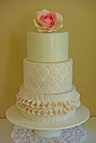 ADORABLE my official wedding cake