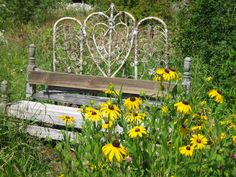 Antique bench among the flowers at Hood River Lavender Farms