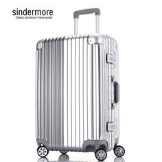 0c204110fa25 2016 new High quality Men's aluminum casting alloy universal rolling  suitcase/aluminum rod trolley/luggage/travel/suitcase rimow