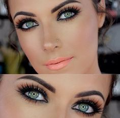 Beautiful simple make up that brings out colored eyes. [ BodyBeautifulLaserMedi-Spa.com ] #makeup #spa #beauty