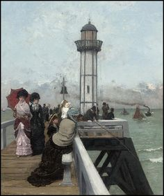 View The lighthouse at Honfleur by Alfred Stevens on artnet. Browse upcoming and past auction lots by Alfred Stevens. Alfred Stevens, Victorian Paintings, Classical Realism, Ernest, France Art, Academic Art, Fashion Painting, Global Art, Art Market