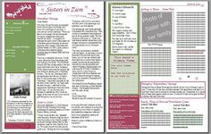 Relief Society Newsletter Templates