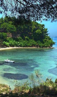 Cozy bay on the Island of Corfu, Greece