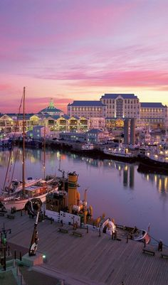 The wharf at Cape Town, South Africa. This is where we usually stay during our tours to South Africa. the V&A area of Cape Town is great fun. Places Around The World, Travel Around The World, Around The Worlds, Places To Travel, Travel Destinations, Places To Visit, Vacation Travel, Hawaii Travel, Holiday Destinations