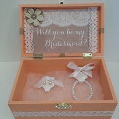 Keepsake Box with Gift Inside Will you Be My by PearlBellaGifts