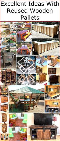 There are many people who throw a beneficial used item in trash, which can help in saving a huge amount of money and they don't know the truth about it. We are talking about the wood pallets; they are beneficial in saving money on many items most importantly the furniture which is costly. We can prove that the used pallets provide many advantages by showing the ideas in which they are reshaped. So, see the projects and excellent ideas with reused wooden pallets that you can copy for your…