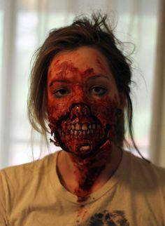 Zombie make-up tutorial.