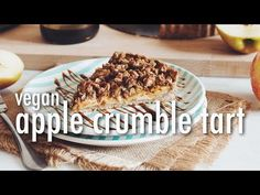 salted caramel apple crumble tart-hot for food