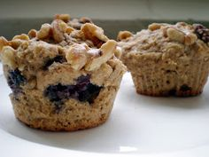Write a Pumpkin, Bake Some Prose: Breakfast Delight: Blueberry-Wheat Power Muffins