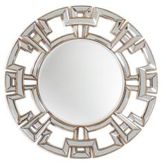 Pierre Mirror from Z Gallerie When I saw this mirror I instantly fell in love with it! I think the gold and silver color, and amazing border adds a unique yet sophisticated element to the living room. Art Nouveau, Mirror Shop, Art Deco Mirror, Affordable Modern Furniture, Sunburst Mirror, Floor Mirror, Mirror Mirror, Entryway Mirror, Mirror Work