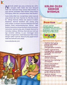 Raja Namrudz yang Perkasa Dikalahkan Seekor Nyamuk Kids Story Books, Stories For Kids, Quran Quotes, Islamic Quotes, Learn Islam, Islamic Pictures, Alhamdulillah, Kids And Parenting, Ramadan