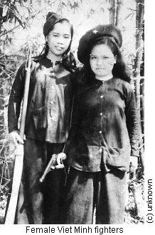 viet minh  women fighters   and they were the enemy  lest we forget.
