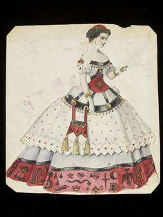 Fortune Teller Object: Design for a fancy-dress costume Place of origin: Paris, France (made) Date: 1860s (made) Artist/Maker: Léon Sault (designer) Charles Frederick Worth, born 1825 - died 1895 (possibly, designed for)