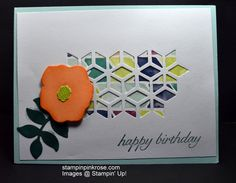 Stampin' Up! CAS Thank You card made with Oh So Electric stamp set and designed by Demo Pamela Sadler. See more cards at stampinkrose.com and etsycardstrulyheart