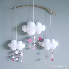 Petite série de Mobiles Gouttes de pluie et Pluie d'étoiles